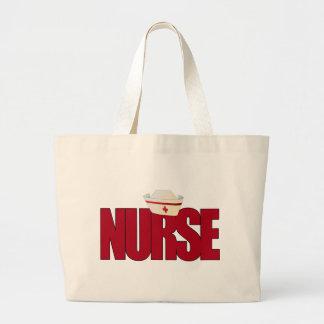 NURSE BIGRED with Cap Large Tote Bag