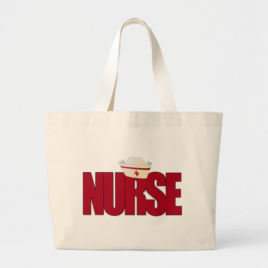 NURSE BIGRED with Cap Large Tote Bag