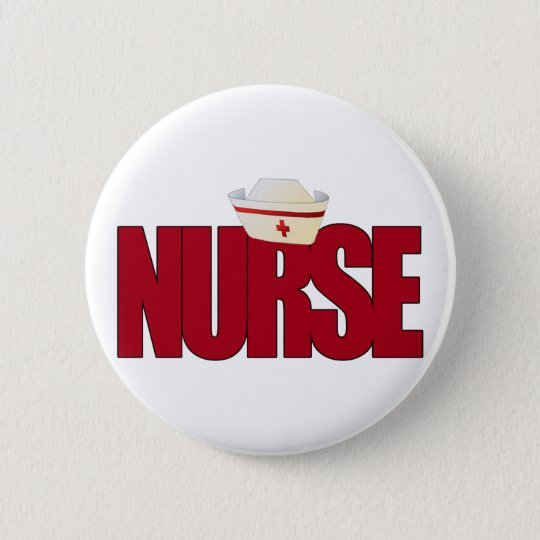 NURSE BIGRED with Cap Pinback Button