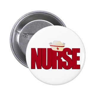NURSE BIGRED with Cap Pinback Button