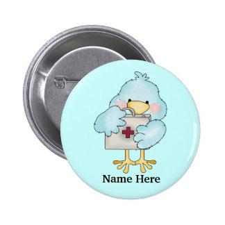 Nurse Birdie Button
