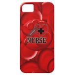 NURSE BLOOD CELLS SYRINGE HEART LOGO iPhone 5 CASES