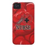 NURSE BLOOD CELLS SYRINGE HEART LOGO iPhone 4 Case-Mate CASE