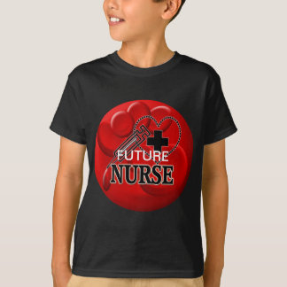 NURSE BLOOD CELLS SYRINGE HEART LOGO T-Shirt
