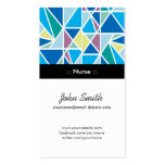 Nurse - Blue Abstract Geometry Double-Sided Standard Business Cards (Pack Of 100)