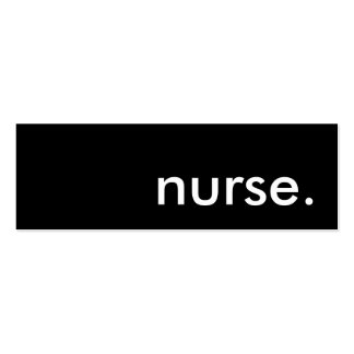 nurse. Double-Sided mini business cards (Pack of 20)
