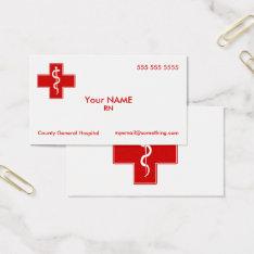 Nurse Business Card at Zazzle