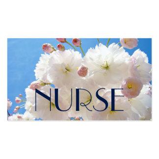 NURSE business cards Blossoms Nursing Nurses