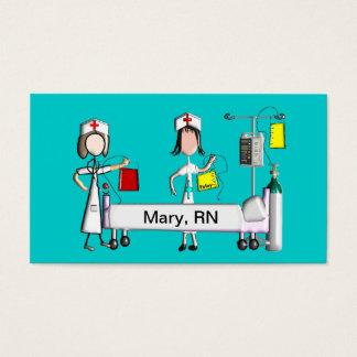 Nurse Business Cards Hospital Scene