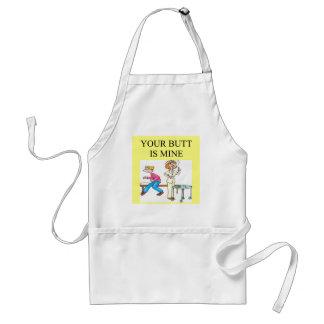 nurse butt joke adult apron