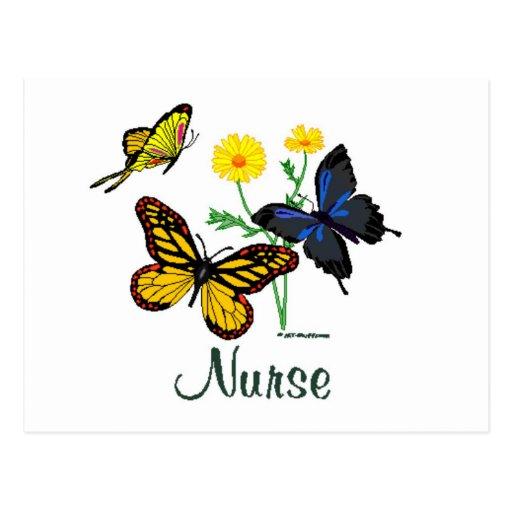 Nurse Butterflies Post Cards
