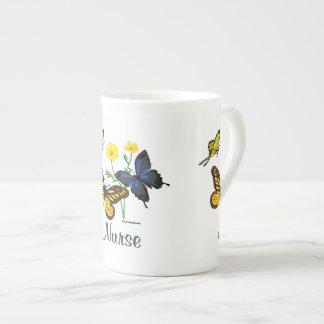 Nurse Butterflies Bone China Mug