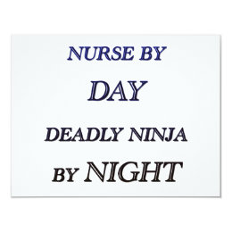 NURSE BY DAY CARD