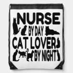 Nurse by Day Cat Lover by Night Cinch Bags