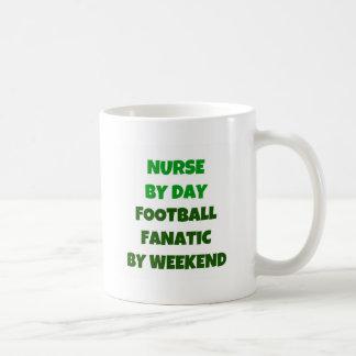 Nurse by Day Football Fanatic by Weekend Classic White Coffee Mug