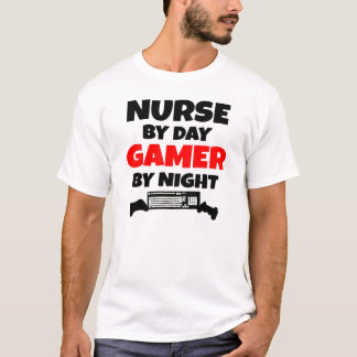 Nurse by Day Gamer by Night T-Shirt