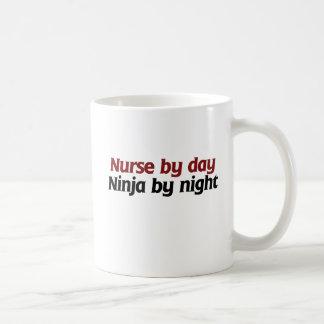 Nurse by Day ninja by Night Classic White Coffee Mug