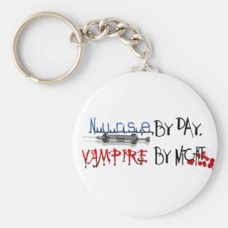 Nurse by day, Vampire by night Basic Round Button Keychain