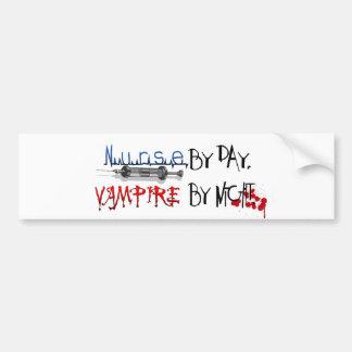 Nurse by day, Vampire by night Car Bumper Sticker