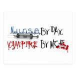 Nurse by day, Vampire by night Postcard
