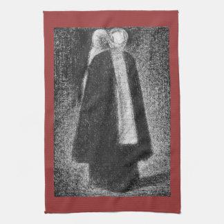 Nurse by Georges Seurat Towels