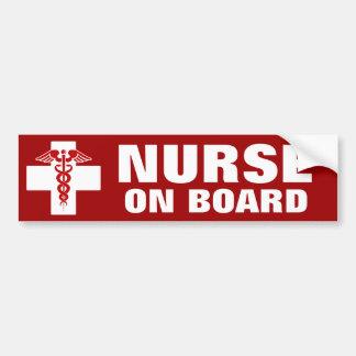 Nurse Caduceus Bumper Sticker
