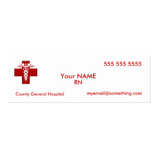 Nurse Caduceus Double-Sided Mini Business Cards (Pack Of 20)