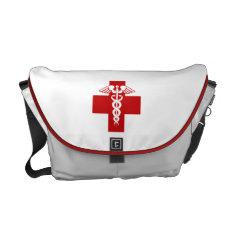 Nurse Caduceus Messenger Bag at Zazzle