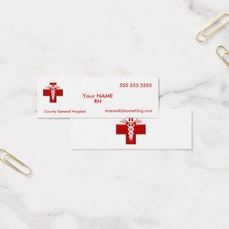 Nurse Caduceus Mini Business Card