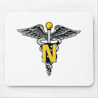 Nurse Caduceus Mouse Pad