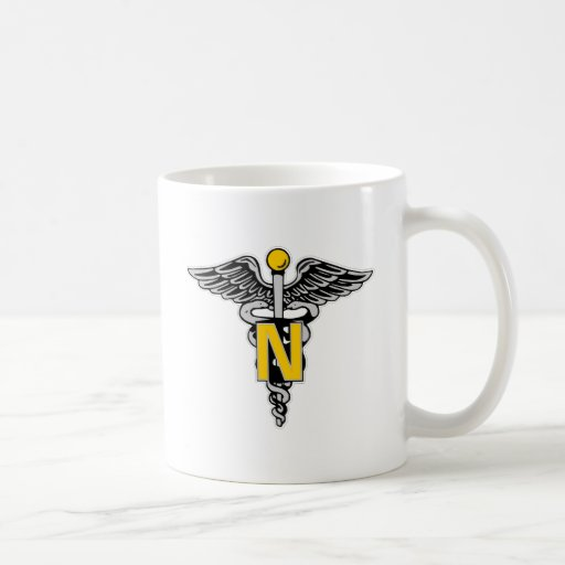 Nurse Caduceus Mugs