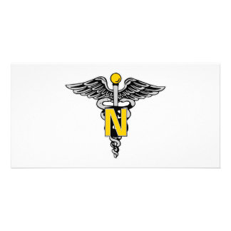 Nurse Caduceus Photo Card
