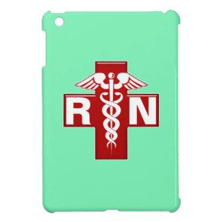 Nurse Caduceus RN Scrubs Green iPad Mini Cover