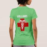 Nurse Caduceus Rod of Asclepius Tshirt