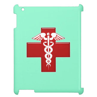 Nurse Caduceus Scrubs Green iPad Cases