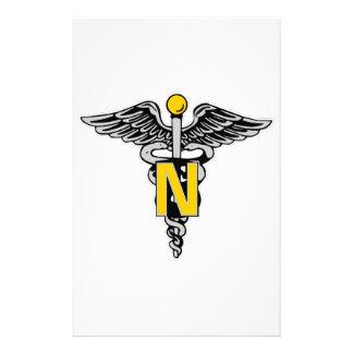 Nurse Caduceus Stationery