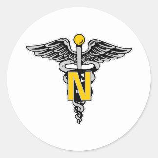Nurse Caduceus Stickers
