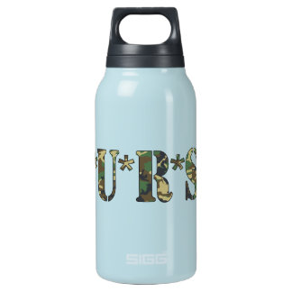 Nurse Camo Lettering Insulated Water Bottle