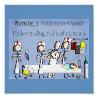 "Nurse Canvas Art ""Compassion & Wisdom"" Poster"