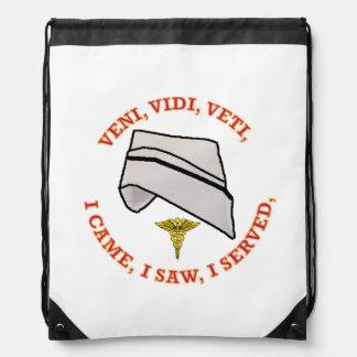 Nurse Cap Shield Cinch Bag
