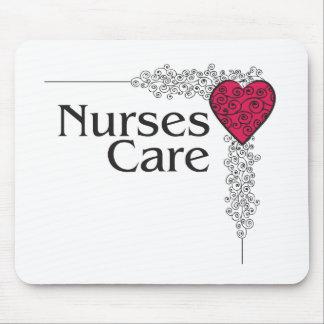 nurse care heart mouse pad