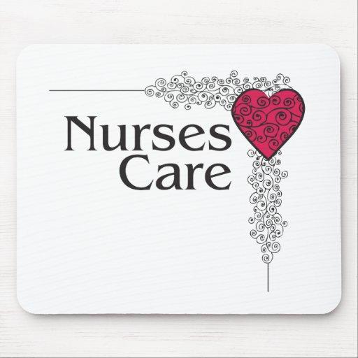 nurse care heart mouse pads