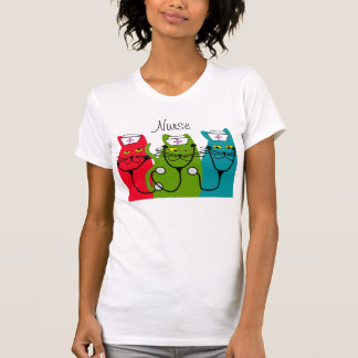 Nurse Cat Art T-Shirt