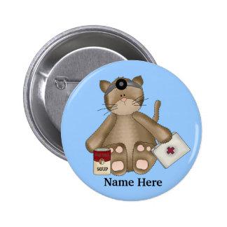 Nurse Cat Button