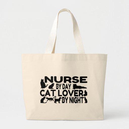 Nurse Cat Lover Tote Bags