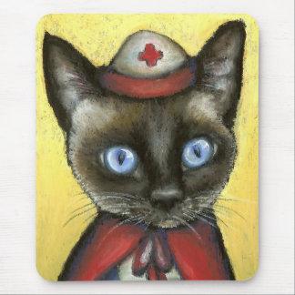 Nurse cat mouse pad