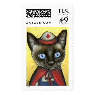 Nurse cat stamps