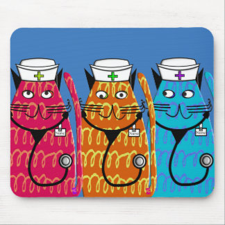 Nurse Cats Mouse Pad