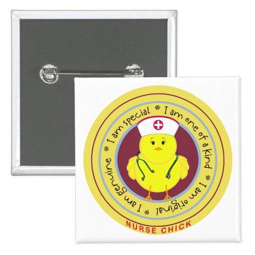 Nurse Chick 2 Inch Square Button