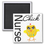 Nurse Chick 2 Inch Square Magnet